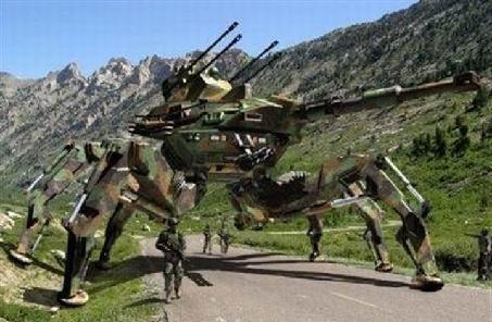 人類士兵帶著一群機器人戰友衝鋒正在變成現實