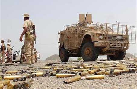 也门政府军打死18名胡塞武装分子