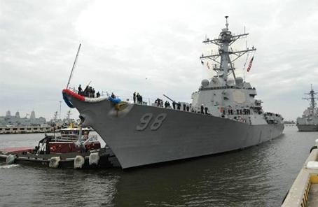 美海軍艦艇訪問多哈