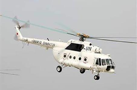 中國赴蘇丹達爾富爾維和直升機分隊轉運友軍傷者