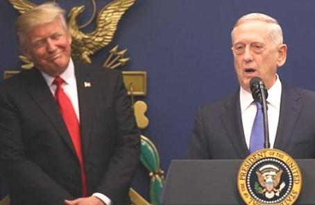 特朗普:不清楚國防部長馬蒂斯是否將離職