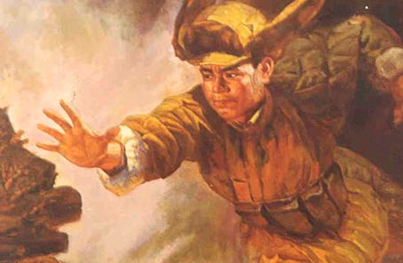 空降兵某旅展开怀念黄继光捐躯66周年系列运动