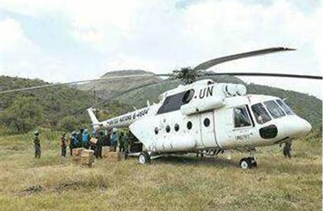中国赴苏丹维和直升机分队通过联非达团装备核查