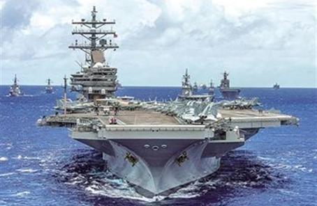 重现航空母舰大决战? 美日举行最大规模海上演习