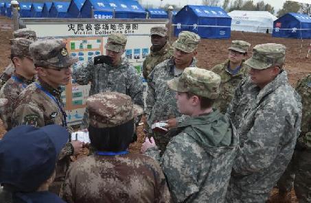 相互学习,共同提高——记2018中美两军人道主义救援减灾联合演练