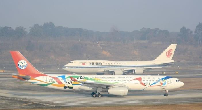 6架民航主力機型陸續飛抵!成都天府國際機場成對外開放新窗口