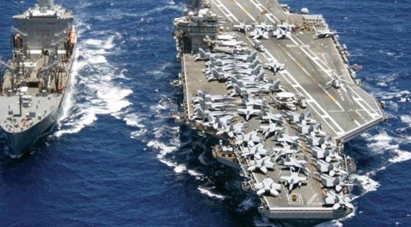 東盟防長會前 美國航母打擊群進入南海