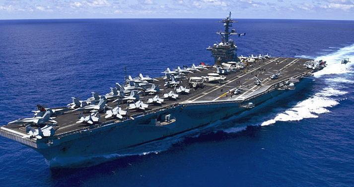 """美媒:美軍""""卡爾文森""""號航母打擊群將前往印太 護航艦艇有重大變化"""