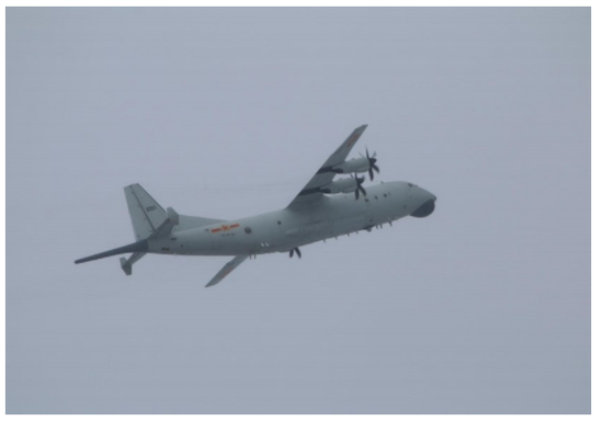 臺防務部門:解放軍一架運-8反潛機進入臺灣西南空域