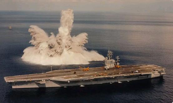 美航母進行全艦衝擊試驗 檢測爆炸衝擊波對戰艦影響