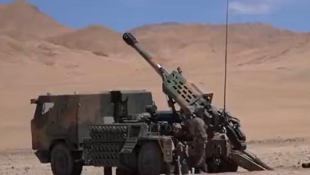 喀喇昆侖炮兵分隊實射訓練