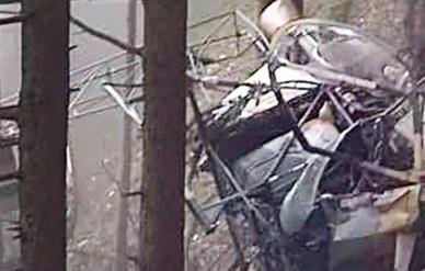 """印度陸軍""""獵豹""""直升機在密林內墜毀 兩名軍官死亡"""