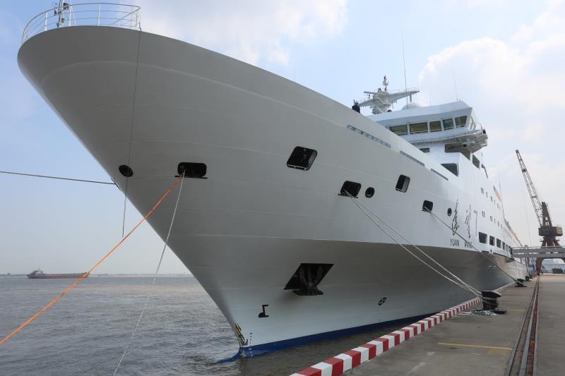 遠望7號船航行2萬余海裏返回母港