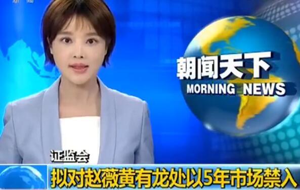 【視頻】證監會擬對趙薇黃有龍處以5年市場禁入