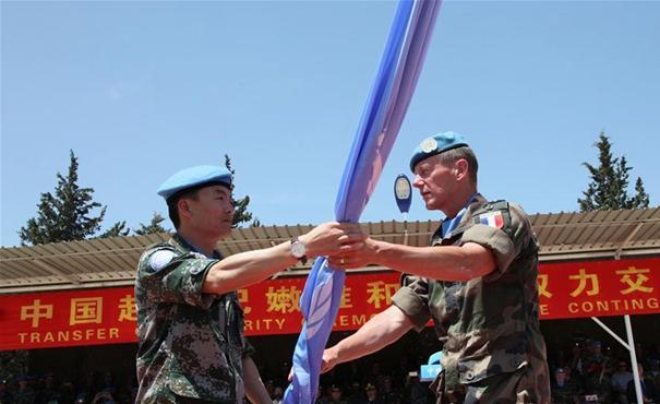 中國赴黎維和部隊完成第15次輪換交接