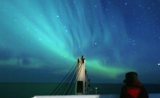 航行北極東北航道的中國商船駛離北冰洋