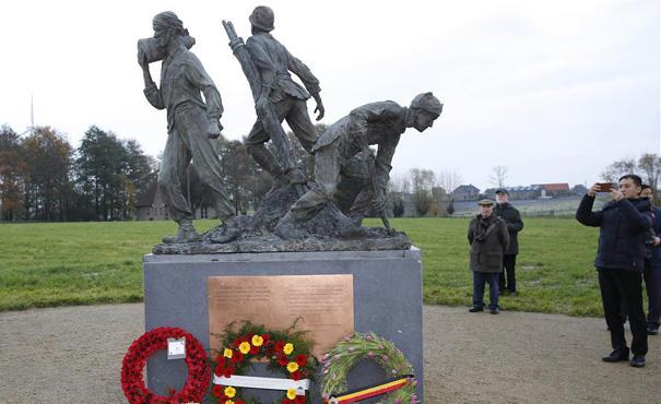 一戰華工紀念雕像在比利時揭幕