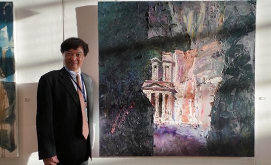 """中國油畫家安曼參展助推""""一帶一路""""文化交流"""