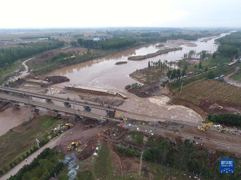 中断运行 山西境内南同蒲铁路昌源河大桥加紧抢修