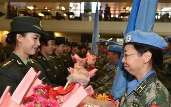 中國第四批赴馬裏維和部隊首批回國