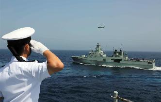 中國海軍遠航訪問編隊結束對阿曼訪問 兩國海軍舉行海上聯合演習