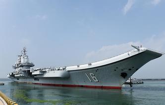 海軍航母編隊啟航執行跨區機動訓練任務