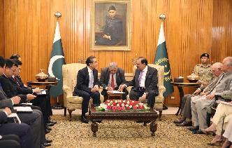 巴基斯坦總統侯賽因會見王毅