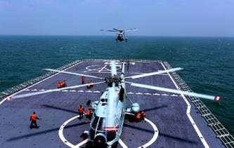 立體投送登陸 我海軍艦、機、艇協同出擊