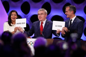 國際奧委會確認巴黎和洛杉磯分別為2024和2028年奧運會舉辦城市