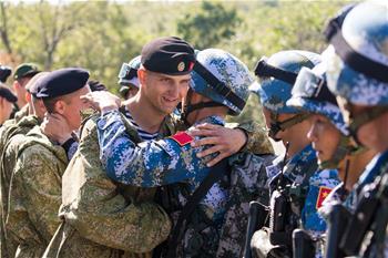 """""""海上聯合—2017"""":中俄海軍陸戰隊舉行聯合反恐比賽"""