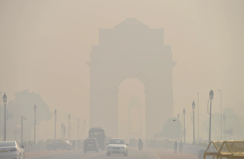 霧霾籠罩新德裏