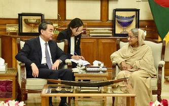 孟加拉國總理哈西娜會見王毅