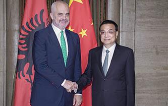 李克强会见阿尔巴尼亚总理拉马图片