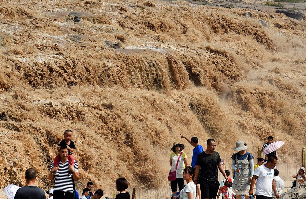 黃河壺口再現壯美瀑布群