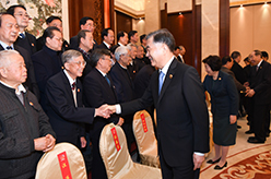 汪洋會見廣西壯族自治區離退休老同志和各族各界群眾代表