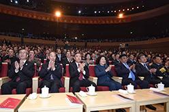 汪洋觀看慶祝廣西壯族自治區成立60周年文藝晚會《壯志飛揚》