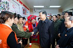 汪洋率中央代表團一分團在南寧看望慰問各族各界幹部群眾