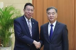 汪洋會見泰國立法議會主席
