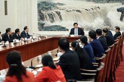 栗戰書出席部分全國人大代表座談會