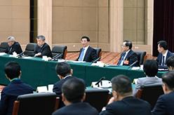 王滬寧看望福利保障、特邀界委員並參加討論