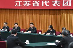 栗戰書參加江蘇代表團審議