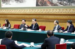 趙樂際參加遼寧代表團審議