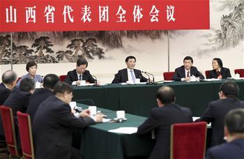 王滬寧參加山西代表團審議