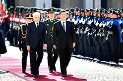 習近平同意大利總統馬塔雷拉舉行會談