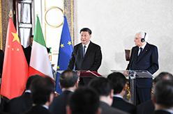 習近平和意大利總統馬塔雷拉共同會見出席中意企業家委員會、中意第三方市場合作論壇、中意文化合作機制會議代表