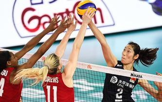 世界女排聯賽江門站:中國隊不敵美國隊