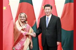 習近平會見孟加拉國總理哈西娜