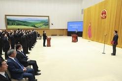 國務院舉行憲法宣誓儀式 李克強總理監誓