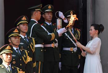 第七屆世界軍人運動會聖火火種採集和火炬傳遞啟動儀式在南昌舉行