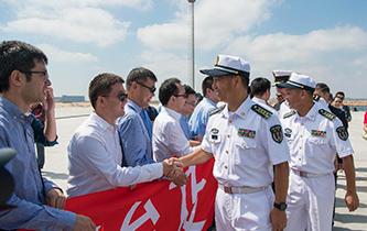 中國海軍西安艦抵達埃及亞歷山大港
